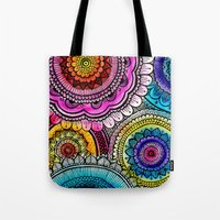 mandala Tote Bags featuring mandala by goyye