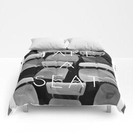 Take a Seat - Black and White Comforters