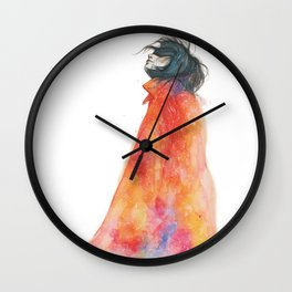 The Girl with the starry mantle Wall Clock