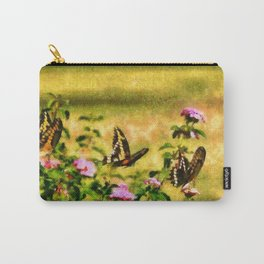 Three Giant Swallowtails - Monet Style Carry-All Pouch