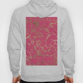 Elegant modern faux gold neon pink marble pattern Hoody
