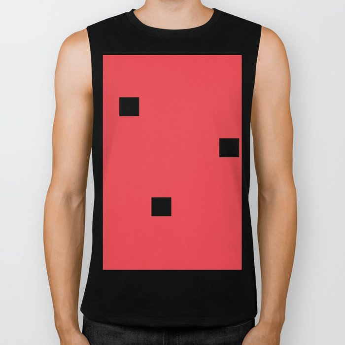 Watermelon in the style of Malevich, version 2 Biker Tank