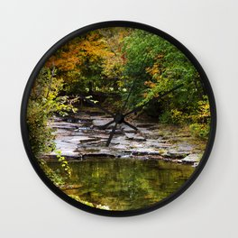 Fall Creek Landscape Wall Clock