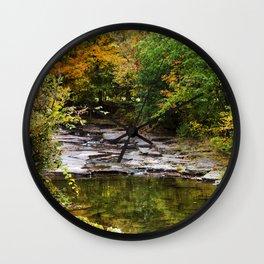 Fall Creek Landscape Wall Clock
