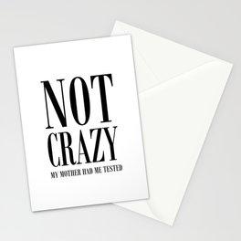 NOT CRAZY Stationery Cards
