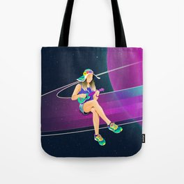 The girl from Saturn by #Bizzartino Tote Bag