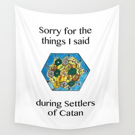 Catan, Settlers of Catan, Board Game, Geek Art, Nerd Art Wall Tapestry