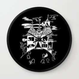 ▴ haunted house ▴ Wall Clock