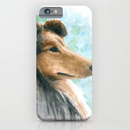 Rough Collie dog iPhone Case