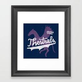 Thestrals Framed Art Print