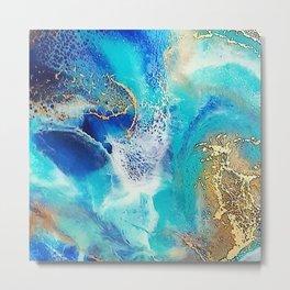 Gold Sea Metal Print