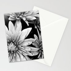 black and white flowers,.  Stationery Cards