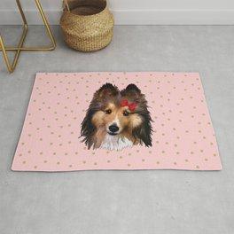 Cute Sheltie Dog Rug