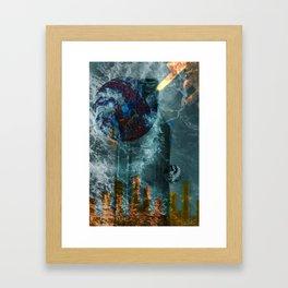Gravity Glass Framed Art Print