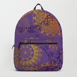 Mandala sky - Violet and gold Backpack
