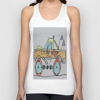 truck Tank Tops featuring Rocket Truck by Ryan van Gogh