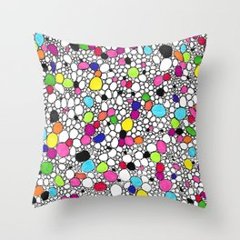 Circles and Other Shapes and colors Throw Pillow