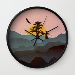 Nature Love Of A Peacful Warrior Wall Clock