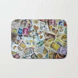 Postage Stamps Bath Mat