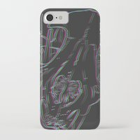 animal skull iPhone & iPod Cases featuring 3-D ANIMAL SKULL by CreepQueen