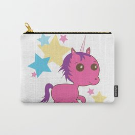 Pink Unicorn Sparkles Carry-All Pouch