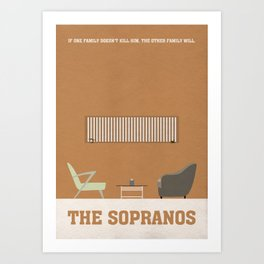 The Sopranos Minimalist Poster - Dr. Melfi's Office Art Print