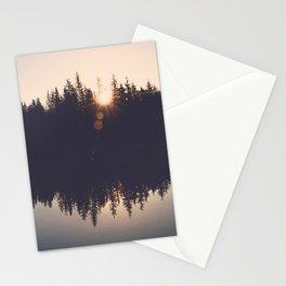 Wooded Lake Reflection  - Nature Photography Stationery Cards