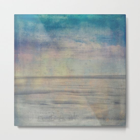 Pastel Winter Landscape Abstract Metal Print