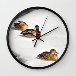 3 Mallards Wall Clock