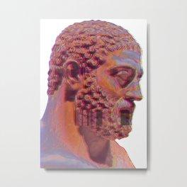 Roman Glitch Metal Print