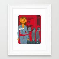 1984 Framed Art Prints featuring 1984 by Cristian Barbeito