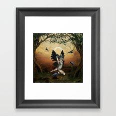 The dark angel Framed Art Print