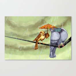 Birds on a Wire Canvas Print