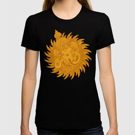 Ganesha Lineart Yellow T-shirt