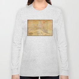 Map of the City of Memphis, Tennessee (1858) Long Sleeve T-shirt