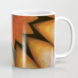 Solar // Sun Light Rays Visionary Art Vibrant Orange Golden Energy Plexus Bohemian Decor Coffee Mug