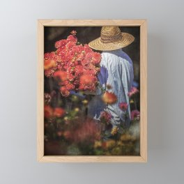 Picking the Flowers Framed Mini Art Print