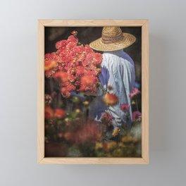 Picking the Flowers Framed Mini Art Print