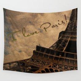 I Love Paris Wall Tapestry