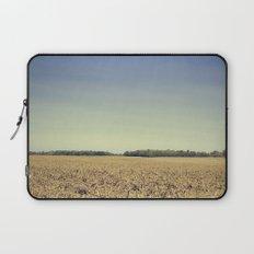 Lonely Field in Blue Laptop Sleeve