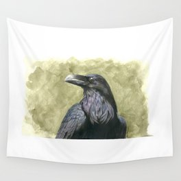 Proud Raven - Watercolor Wall Tapestry