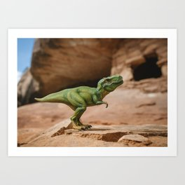 Dinosaur - T-Rex at Home Art Print