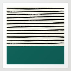 Jungle x Stripes Art Print