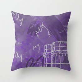 A la luna de Valencia - Purple Throw Pillow