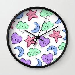 Stars And Moons Wall Clock