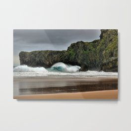 Wave Series Photograph No. 26 - Breaking Waves on the Coast Metal Print