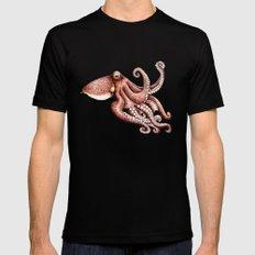 Octopus (Octopus vulgaris) Black MEDIUM Mens Fitted Tee