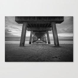 Under Tybee Pier  Canvas Print