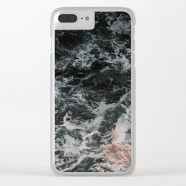 Ariel of the Ocean Waves - Nature Photography Clear iPhone Case