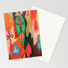 heart and rose Stationery Cards